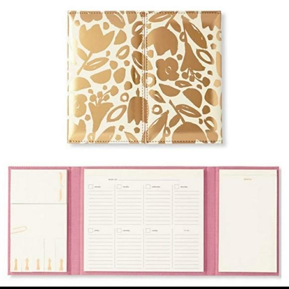 kate spade golden floral desktop weekly calendar &